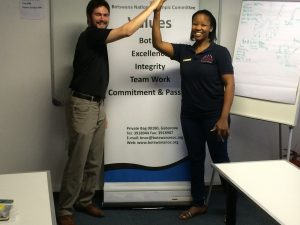 Myself and Reginah, one of the first aid & CPR instructors