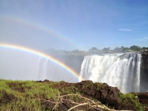 Double rainbow at Victoria Falls